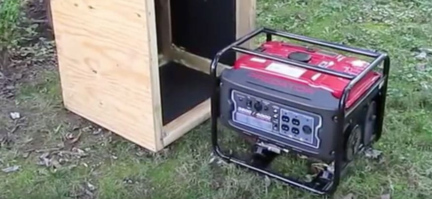 Easy Wood Portable Generator Enclosure : How to make a generator quieter in simple steps